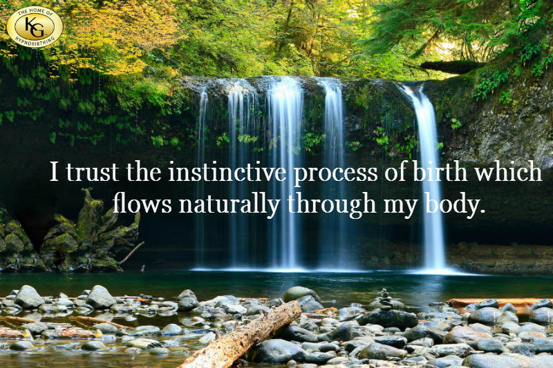 Hypnobirthing Affirmation - I trust the process of birth